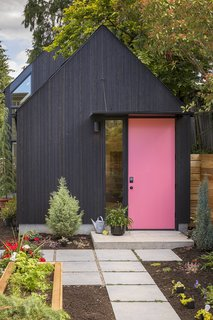 """With a new baby on the way and the soon-to-be grandmother moving in, Seattleites Ilga Paskovskis and Kyle Parmentier asked Best Practice Architecture to expand their detached garage into a 570-square-foot ADU, which they now call the Granny Pad. """"We can see the joy it brings Grandma when the baby comes over to visit,"""" says Kyle. """"It's the best part of her day."""""""