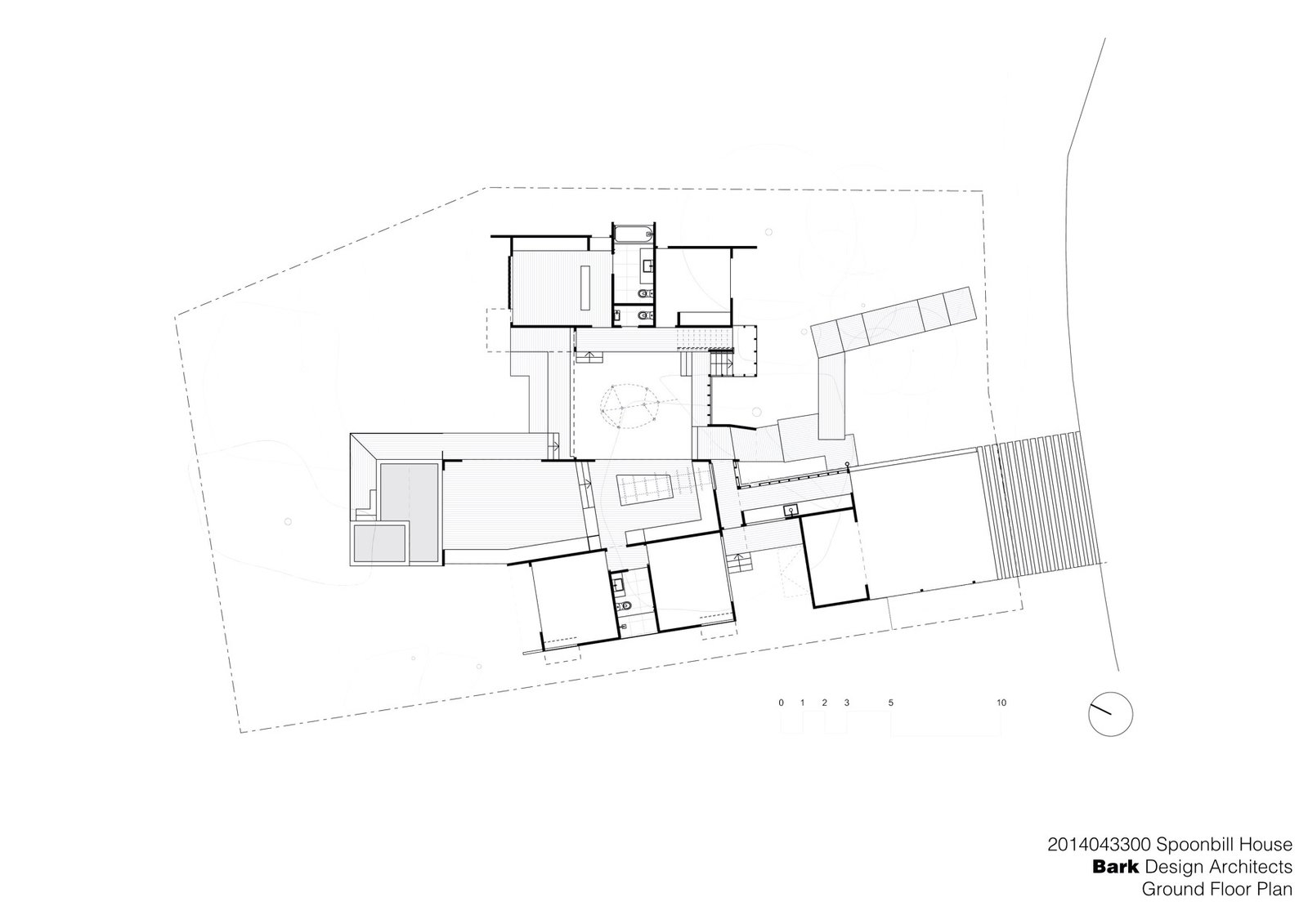 Spoonbill House Ground Floor Plan  Photo 9 of 10 in Vegetation Cocoons This Tranquil Beach House in Australia