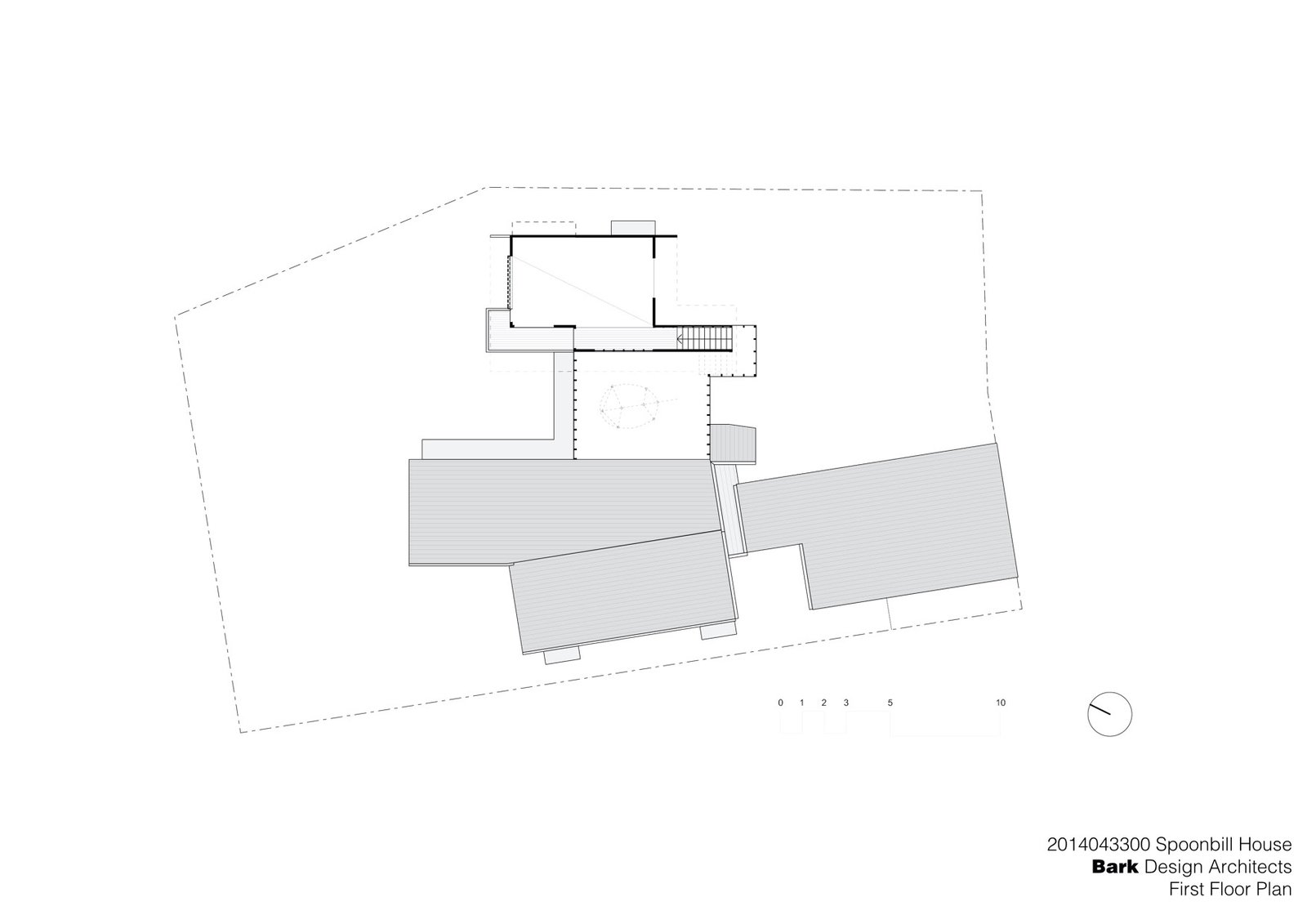 Spoonbill House First Floor Plan  Photo 10 of 10 in Vegetation Cocoons This Tranquil Beach House in Australia