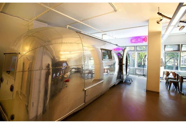 John Storyk of Walters-Storyk Design Group transformed a circa-1958 Airstream into a recording and broadcast studio for the Lower Eastside Girls Club in New York.