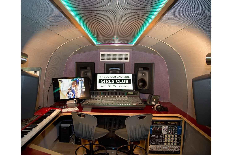 Airstream Recording Studio control room