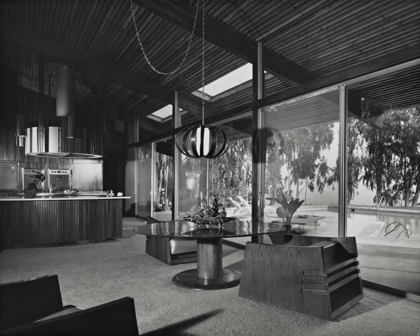 Dining Room Some of the home's original furniture was also designed by Antelline, including the pair of dining chairs seen here.  Photo 10 of 16 in A One-of-a-Kind Midcentury Modern Has Resurfaced on the Market to the Tune of $3.5M