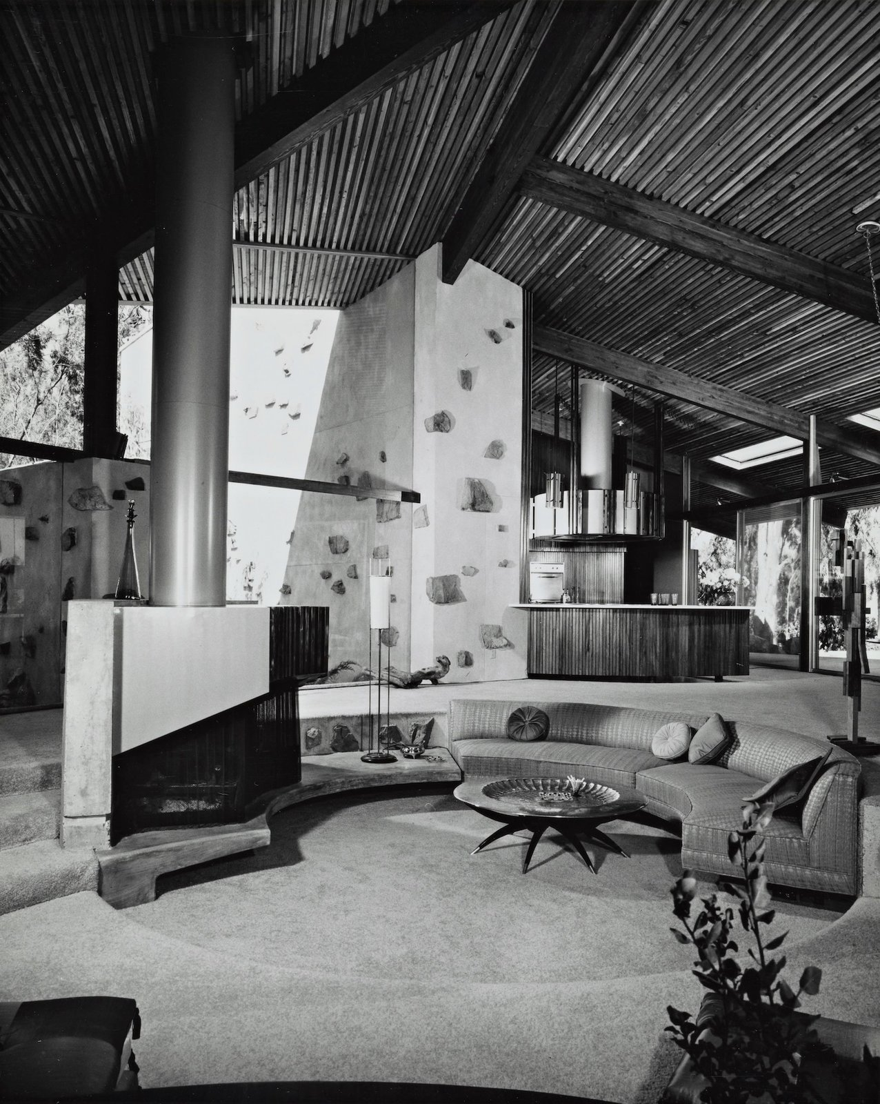 Living Room The living areas were originally carpeted.  Photo 9 of 16 in A One-of-a-Kind Midcentury Modern Has Resurfaced on the Market to the Tune of $3.5M