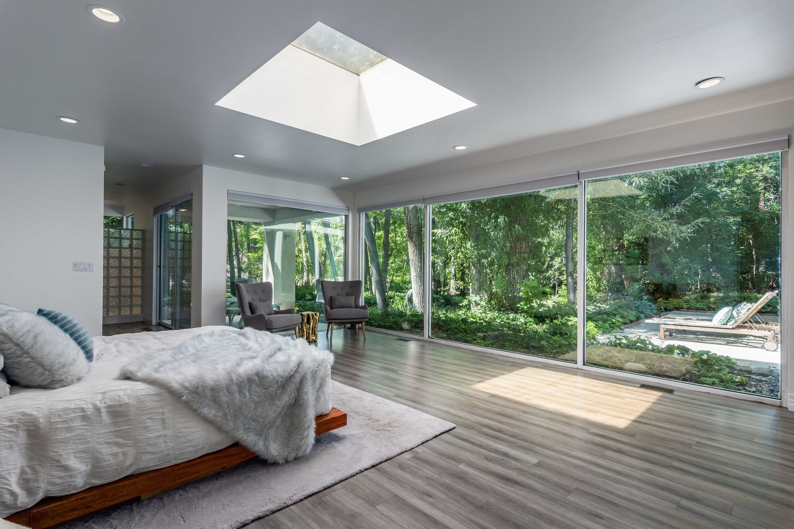Holladay Concrete Home master bedroom