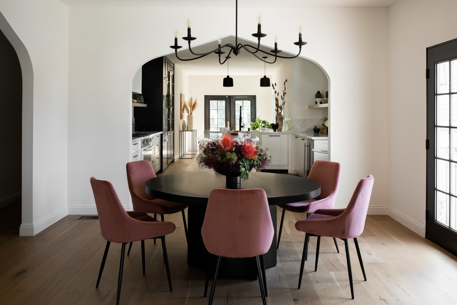 Dining area of Tudor Renovation by VEIN Design and Bungalowe