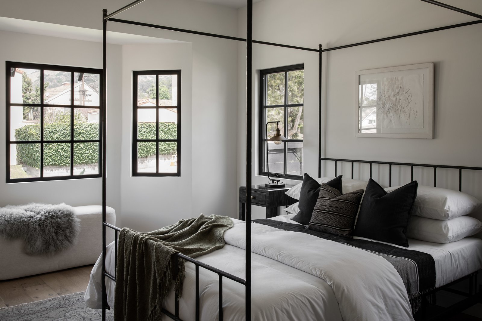 Bedroom in Tudor Renovation by VEIN Design and Bungalowe