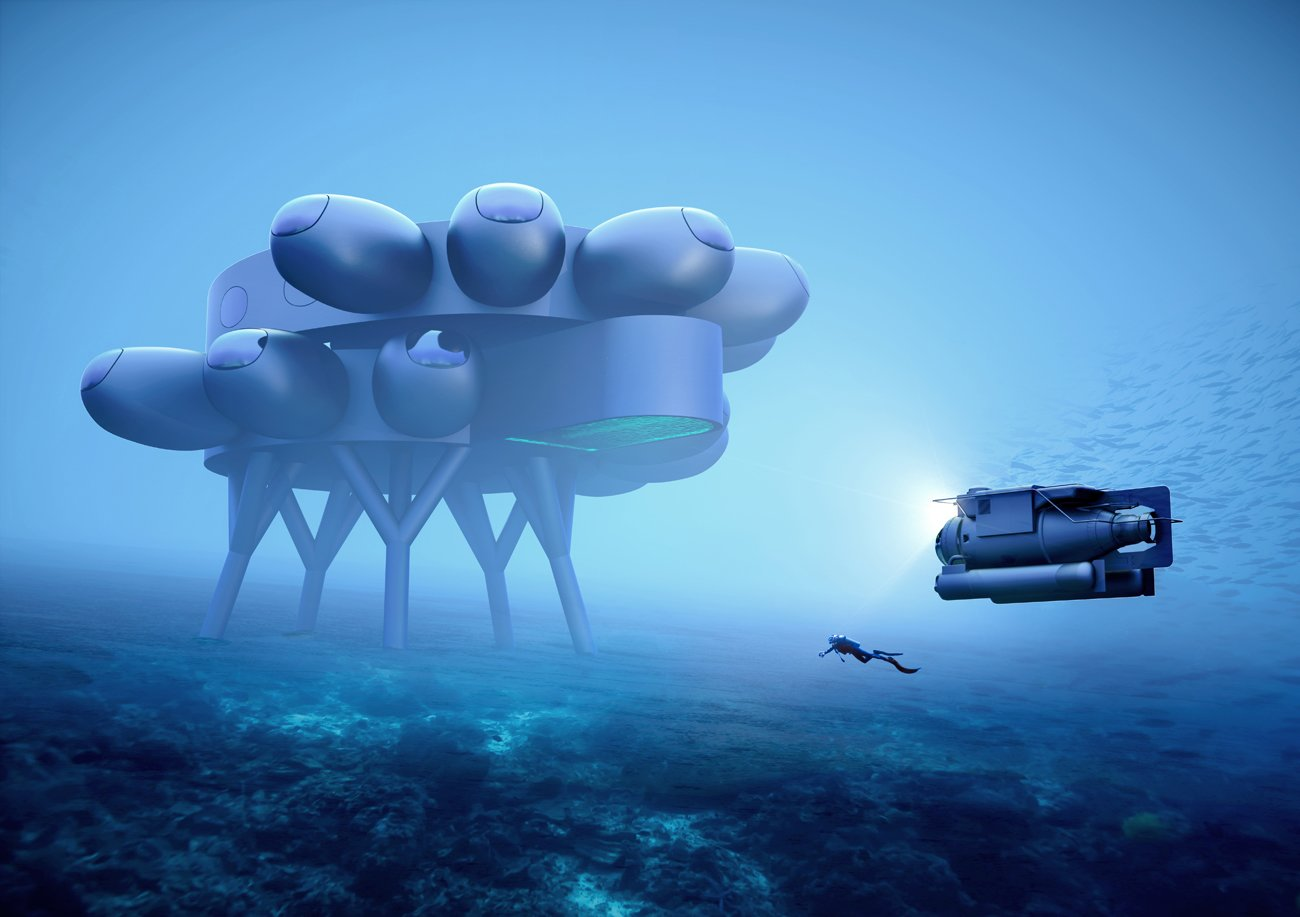 PROTEUS underwater research lab by fuseproject