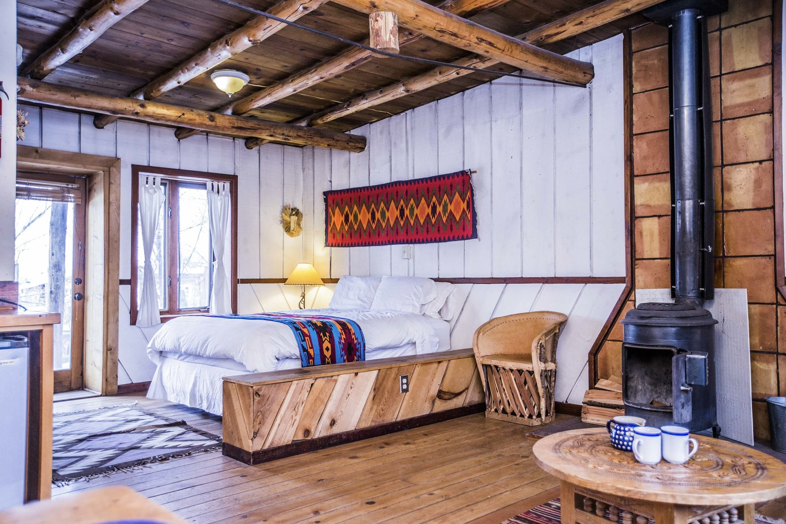 The Aldous Huxley cabin in New Mexico was once home to the English author and is today a nightly rental on Airbnb. The cabin is part of a larger retreat that includes another cabin visited by D. H. Lawrence.  Photo 10 of 13 in 6 Famous Writer's Retreats You Can Rent When You're Ready to Write That Novel