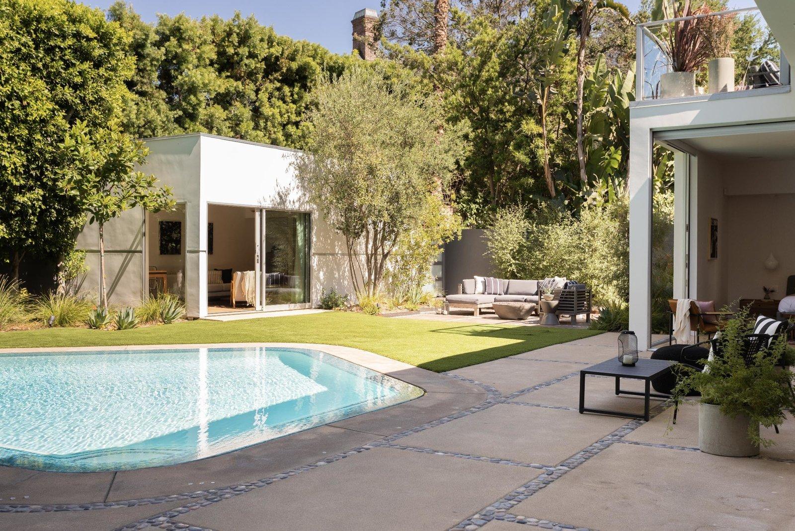 Bruno Bondanelli Los Angeles home backyard