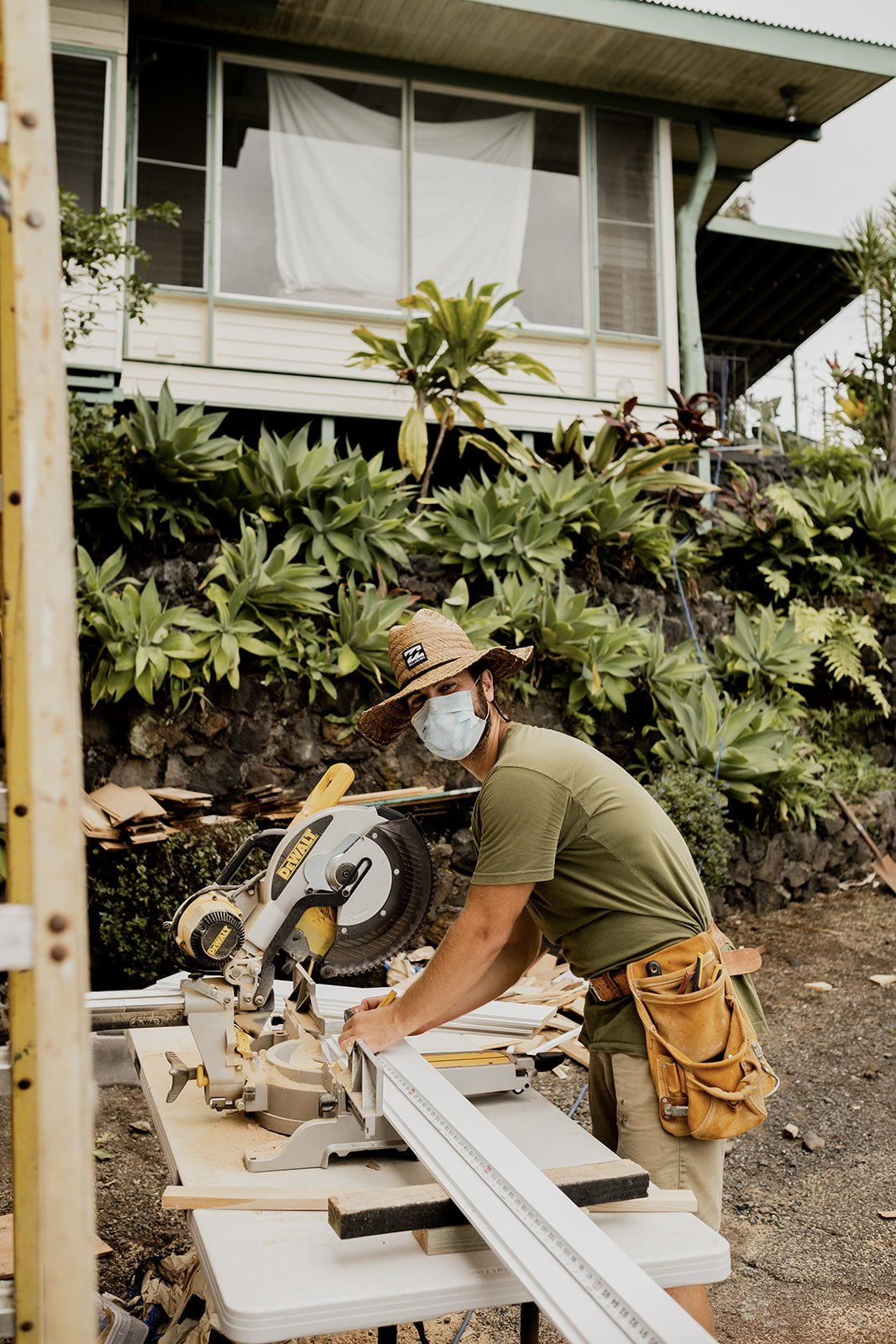 Taylor considered the project an experiment to test out ideas for improving the design of tiny homes. A big focus became adding more windows and leaving spaces open rather than filling every nook and corner.  Photo 3 of 14 in A Hawaii-Based Couple Build a Luminous Tiny House in Just 25 Days