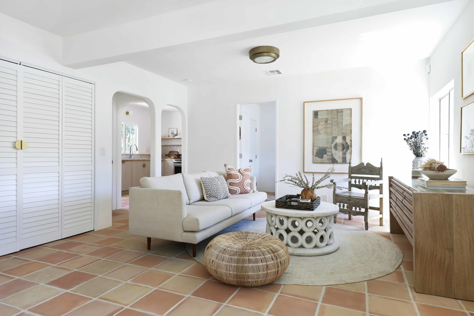 Los Angeles Spanish Bungalow living area