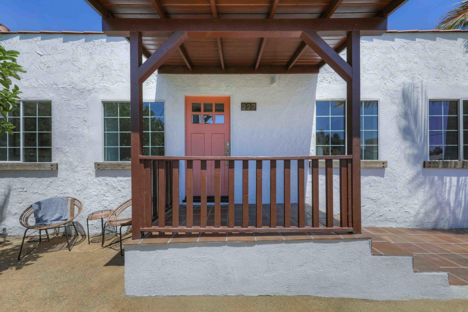 Los Angeles Spanish Bungalow front porch