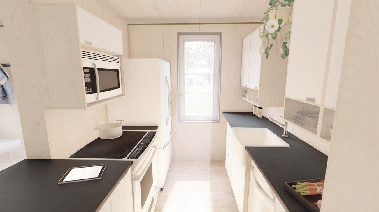 OBY Prefab ADU kitchen