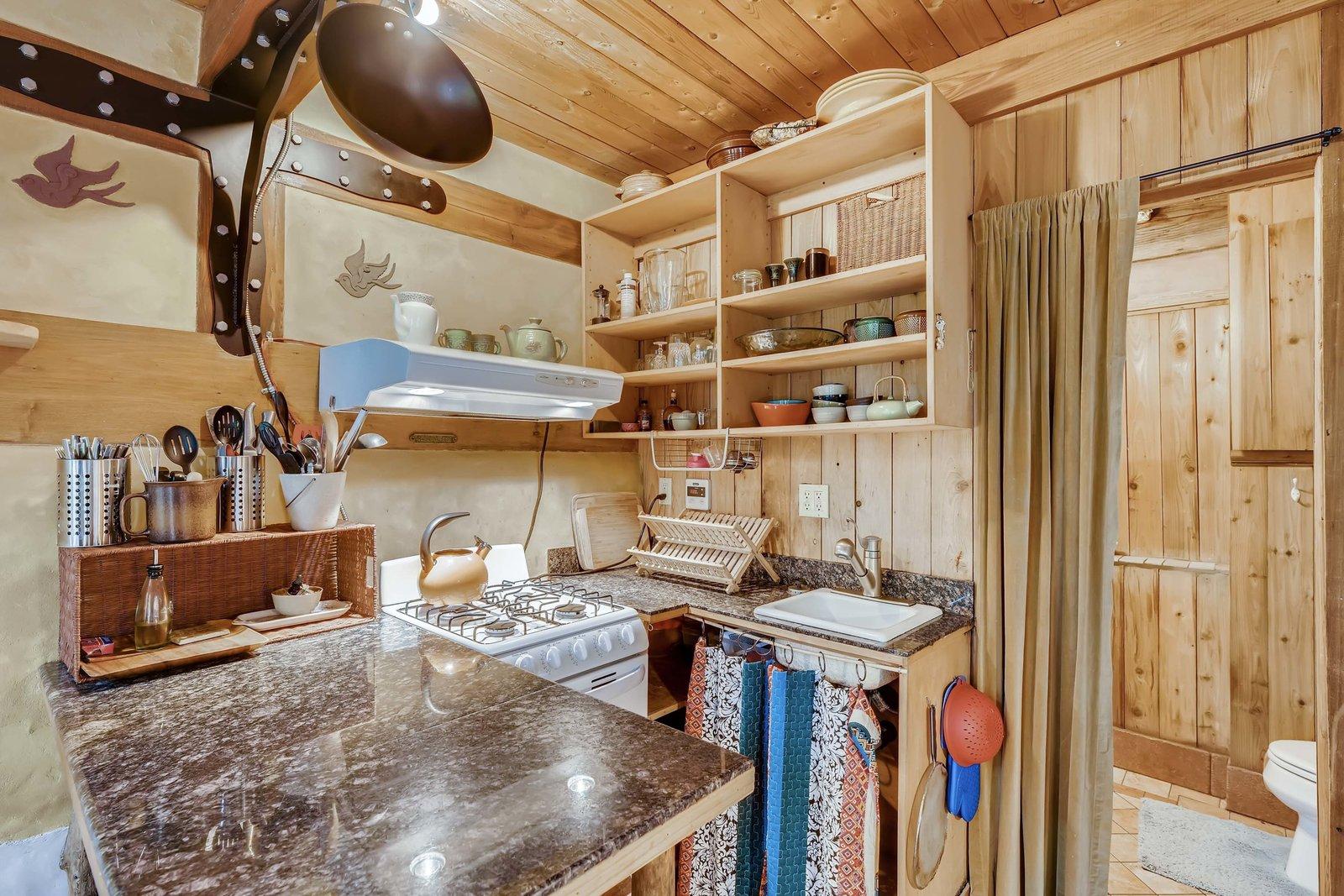 Sharingwood cob house kitchen
