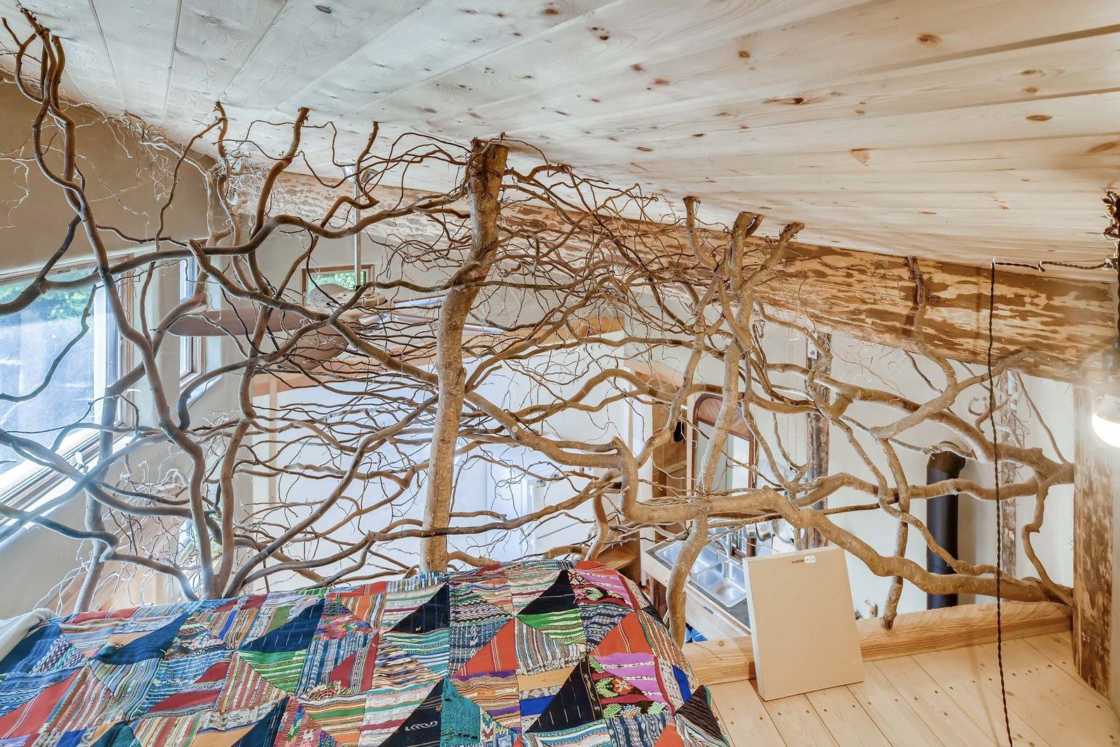 Sharingwood cob home sleeping loft