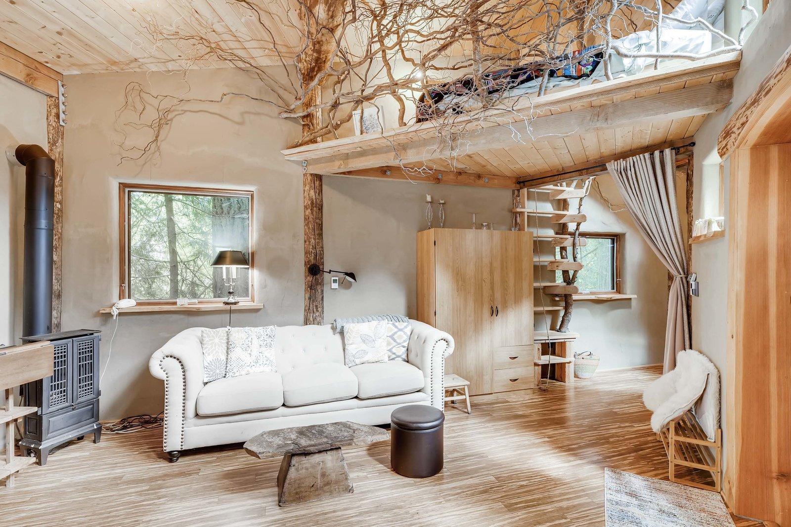 Sharingwood cob home living area