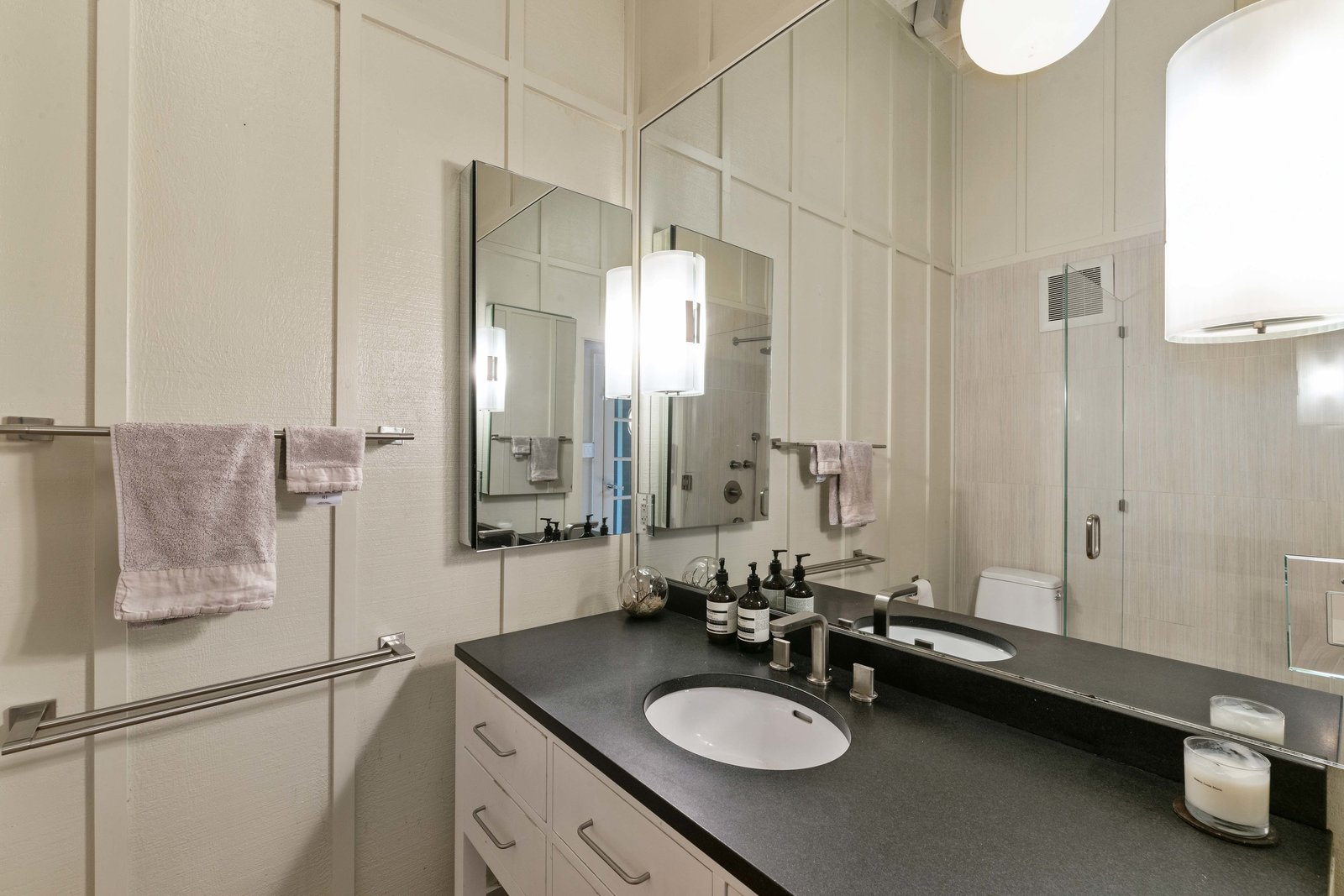A look at the home's only bathroom.  Photo 10 of 13 in An Idyllic Cottage With a Garden Studio Seeks $1.8M in San Francisco