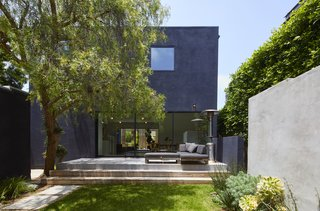An outdoor area extends off the rear of the home.