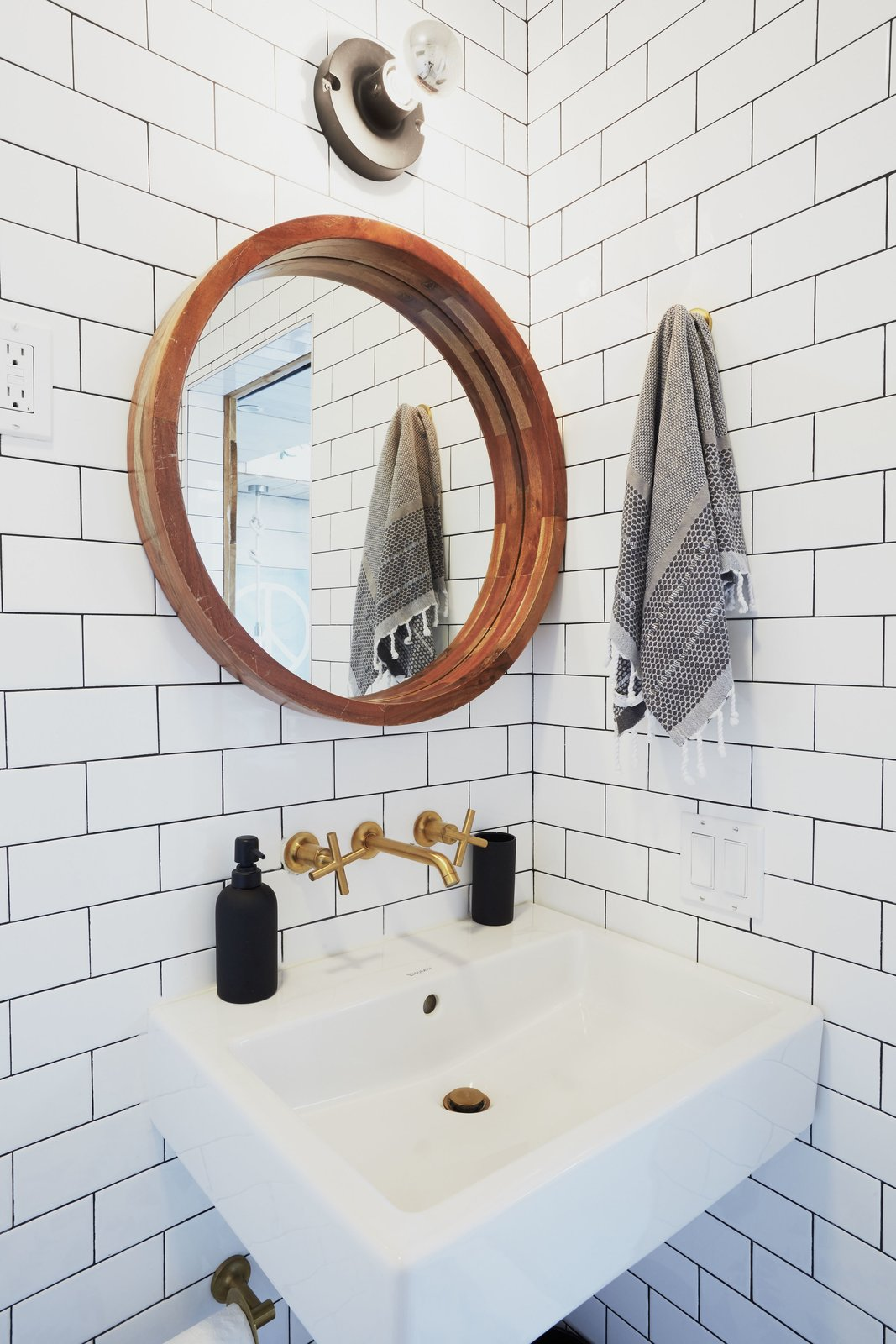 """A look at the studio bathroom, which also features an open shower area.  Photo 7 of 17 in The """"Surf Shacks"""" Author Lists His Venice Bungalow and Backyard Guesthouse for $1.6M"""
