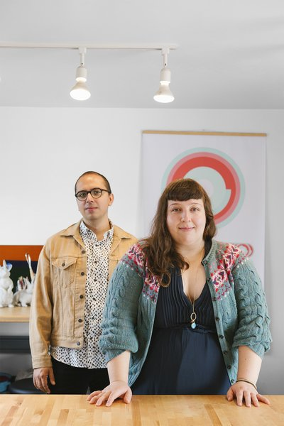 Rodrigo Lobato and Lilia Corona at their studio in Mexico City.