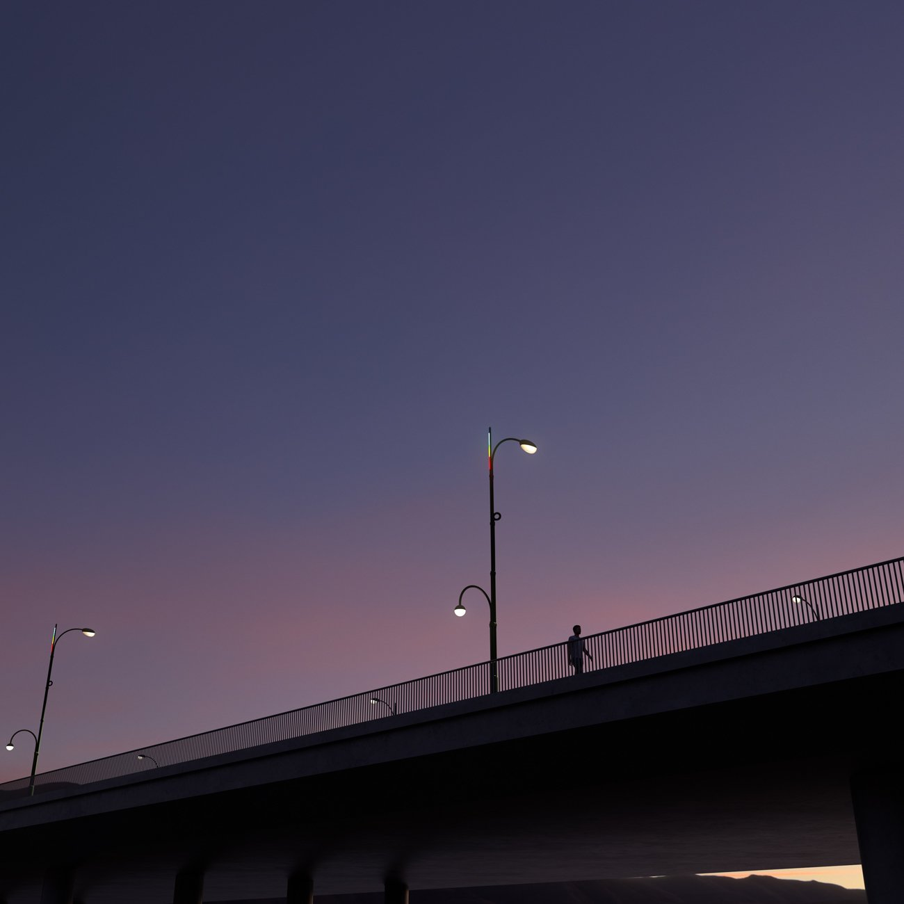 Anywhere between 1,000 and 2,000 of Project Room's new streetlight will be installed across Los Angeles's 15 districts in anticipation of the 2028 Summer Olympics.  Photo 6 of 7 in Project Room's Winning Streetlight Design Beckons a Brighter Future for Los Angeles