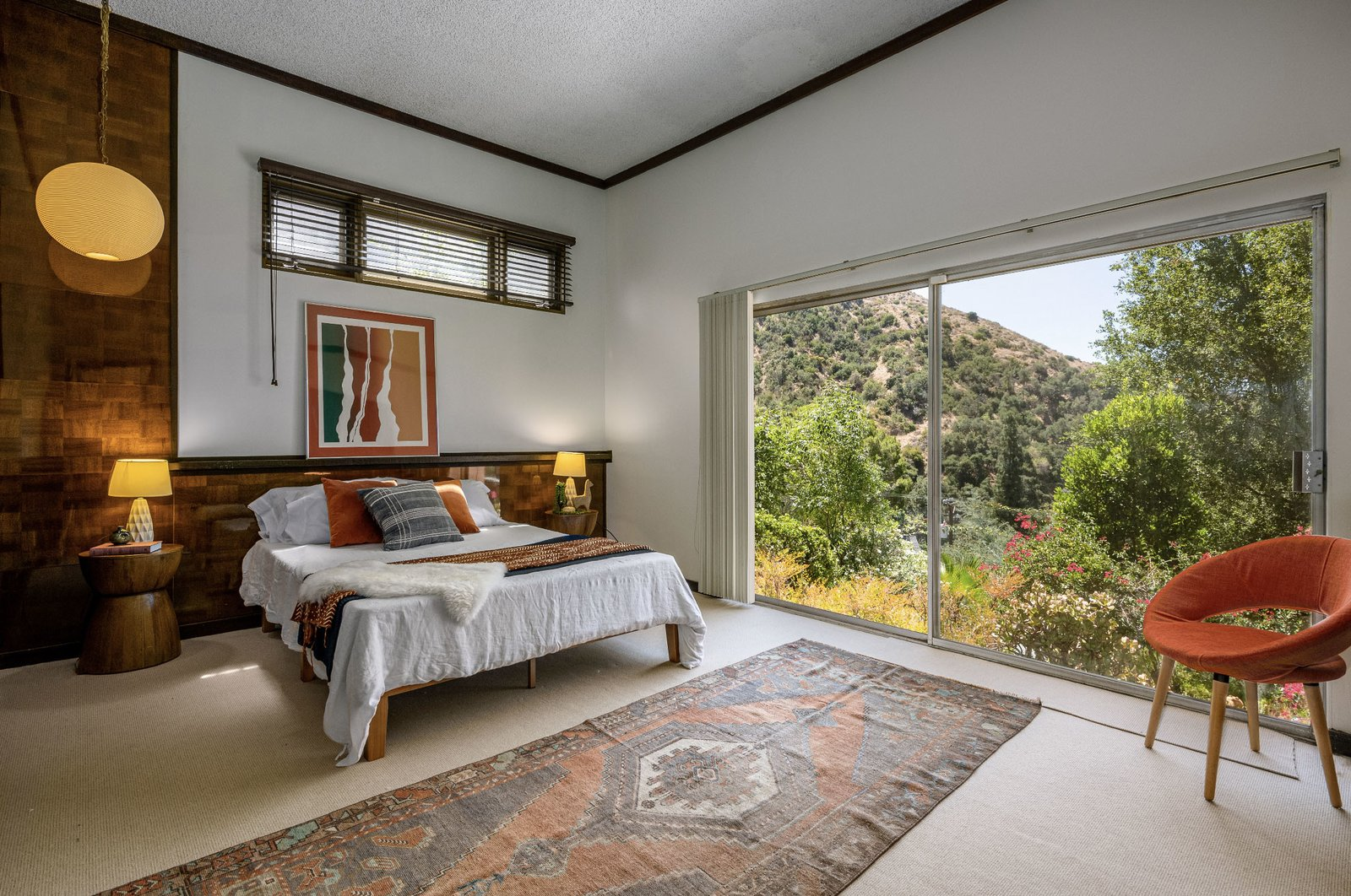 "A look at the third bedroom.  Photo 14 of 15 in This $1.2M California Midcentury House Looks Like It Came Straight Out of ""Mad Men"""