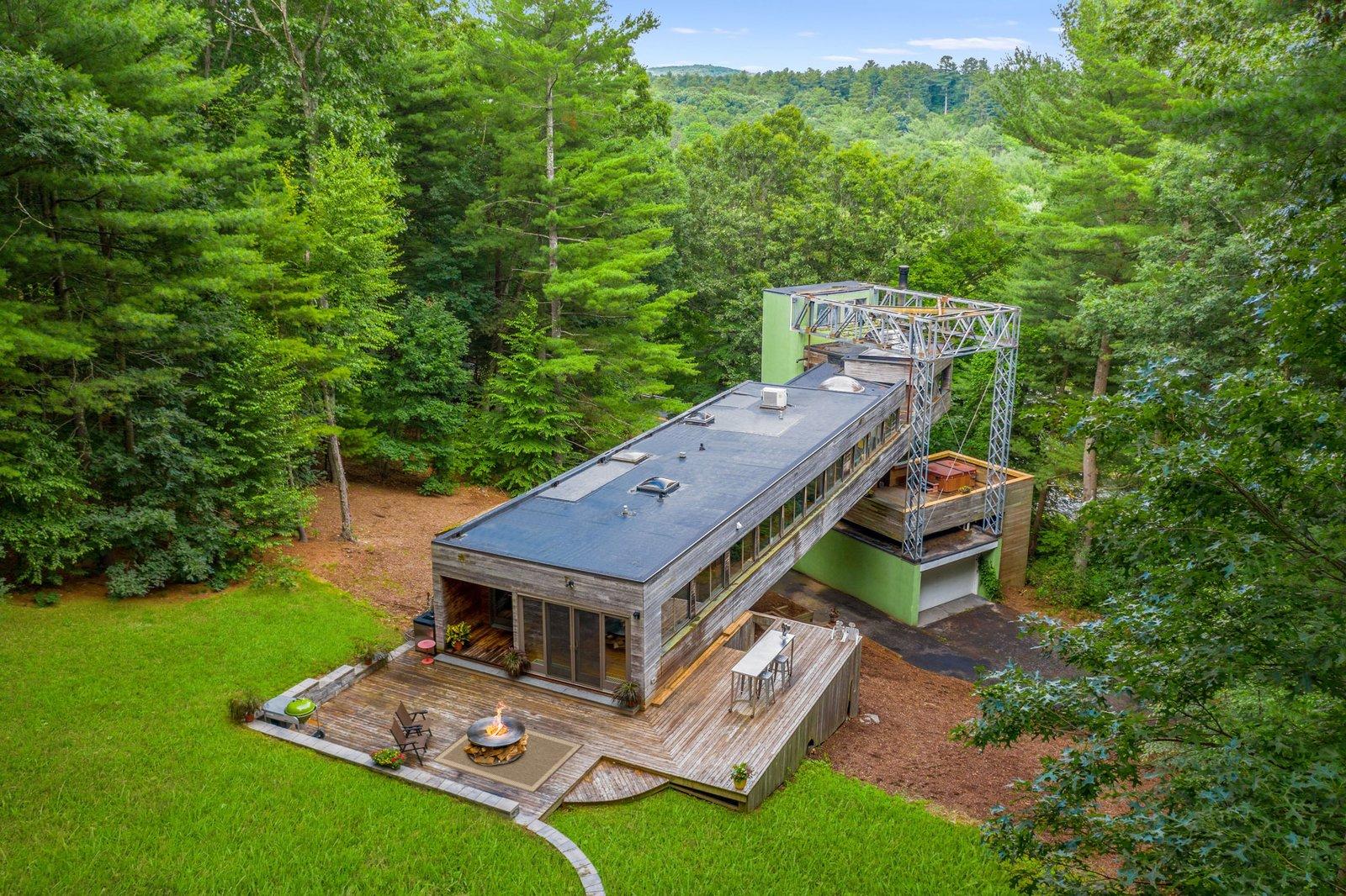 Cedar Bridge House aerial view