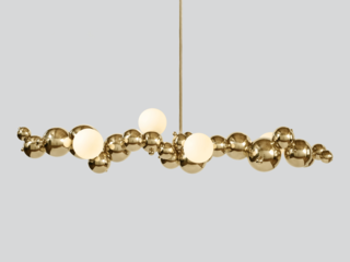 The Bubbly Linear Chandelier by Rosie Li