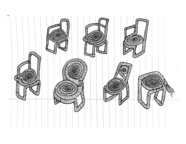 Sketches of upcoming products by Amalia Attias