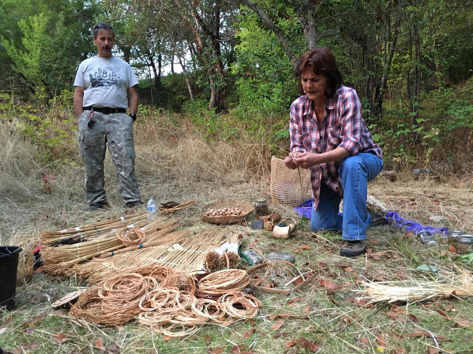 Karuk cultural practitioner Kathy McCovey leads TREX education. As part of its benefits, prescribed fires provide healthier acorns and basket-weaving materials for local tribal members.  Photo 8 of 8 in To Combat Raging Wildfires, California Turns to Native American Knowledge