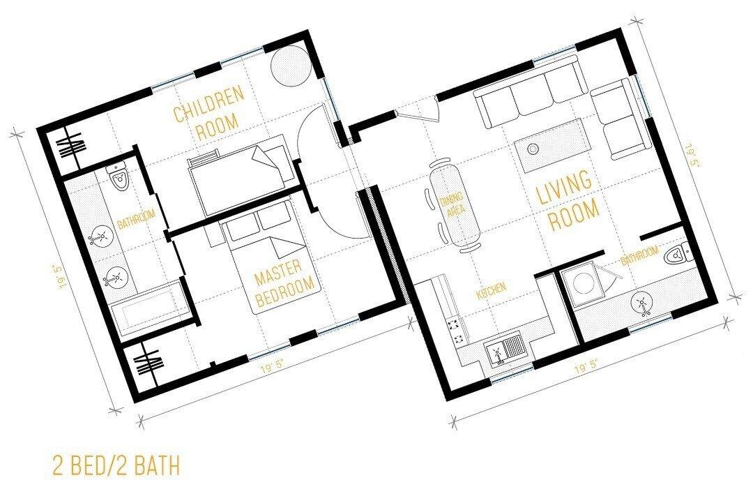Boxabl Casita floor plan