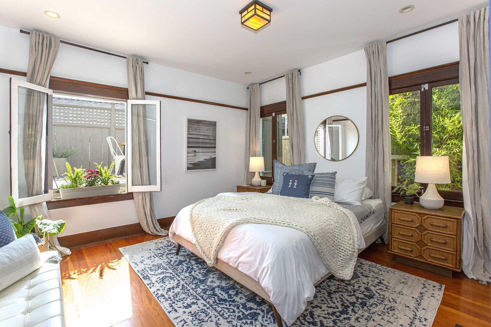 """A second bedroom overlooks the rear deck.  Photo 10 of 14 in """"Last Man on Earth"""" Creator Will Forte Puts His Santa Monica Craftsman on the Market for $2.45M"""
