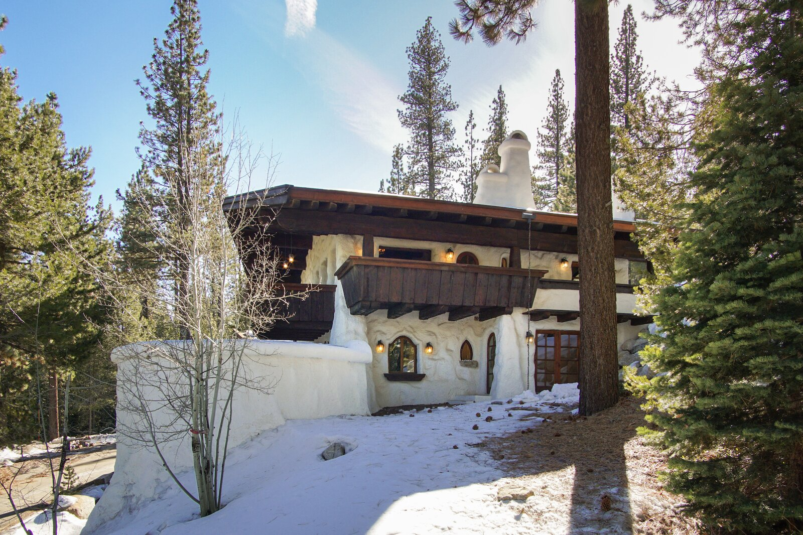 """Sited on a .51-acre plot of land, the sale also includes an adjacent half-acre lot.  Photo 12 of 15 in Listed for $2.65M, This Bavarian-Style """"Snow Haus"""" Near Lake Tahoe Is the Perfect Alpine Escape"""