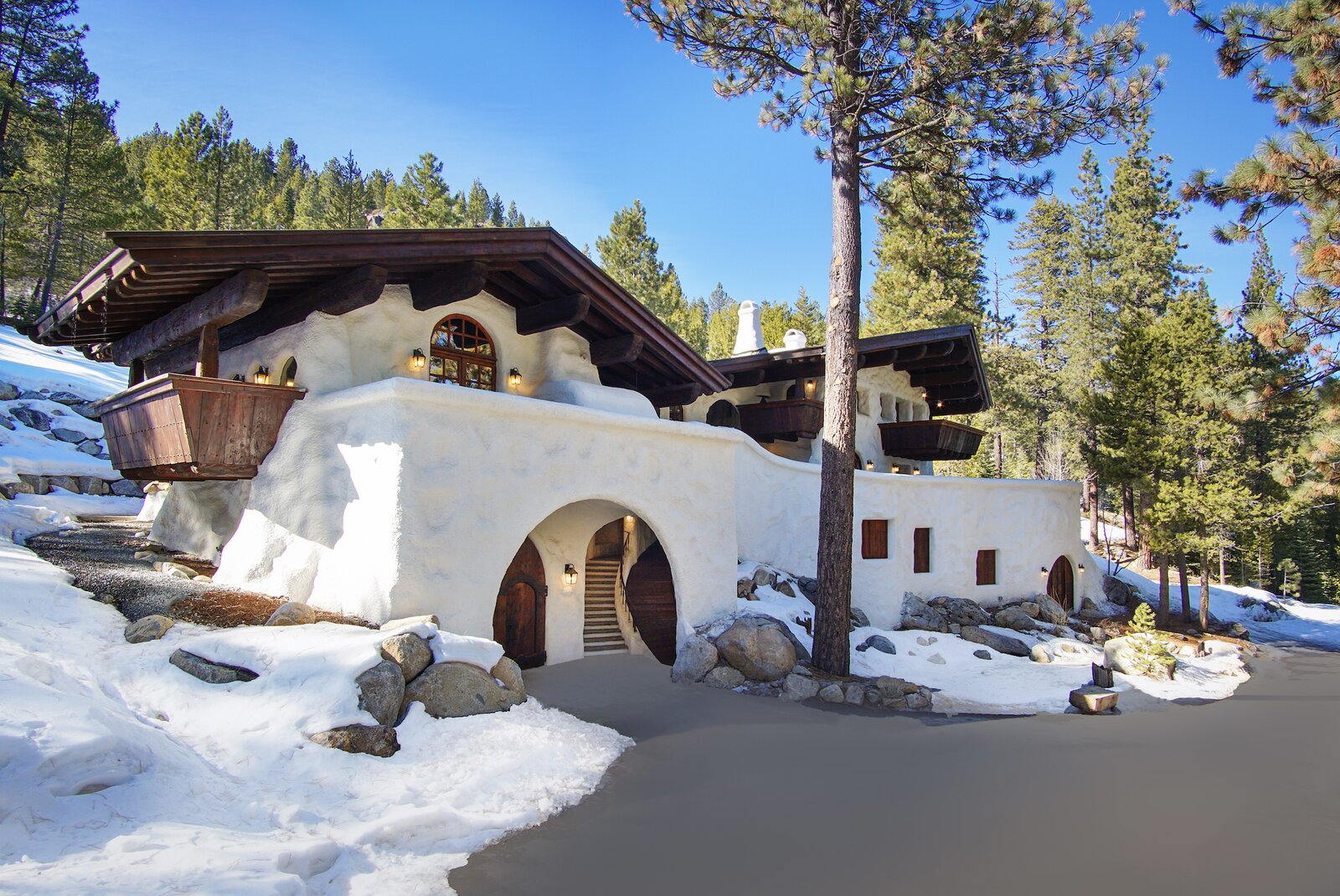 "The recently listed ""Snow Haus  Photo 1 of 15 in Listed for $2.65M, This Bavarian-Style ""Snow Haus"" Near Lake Tahoe Is the Perfect Alpine Escape"