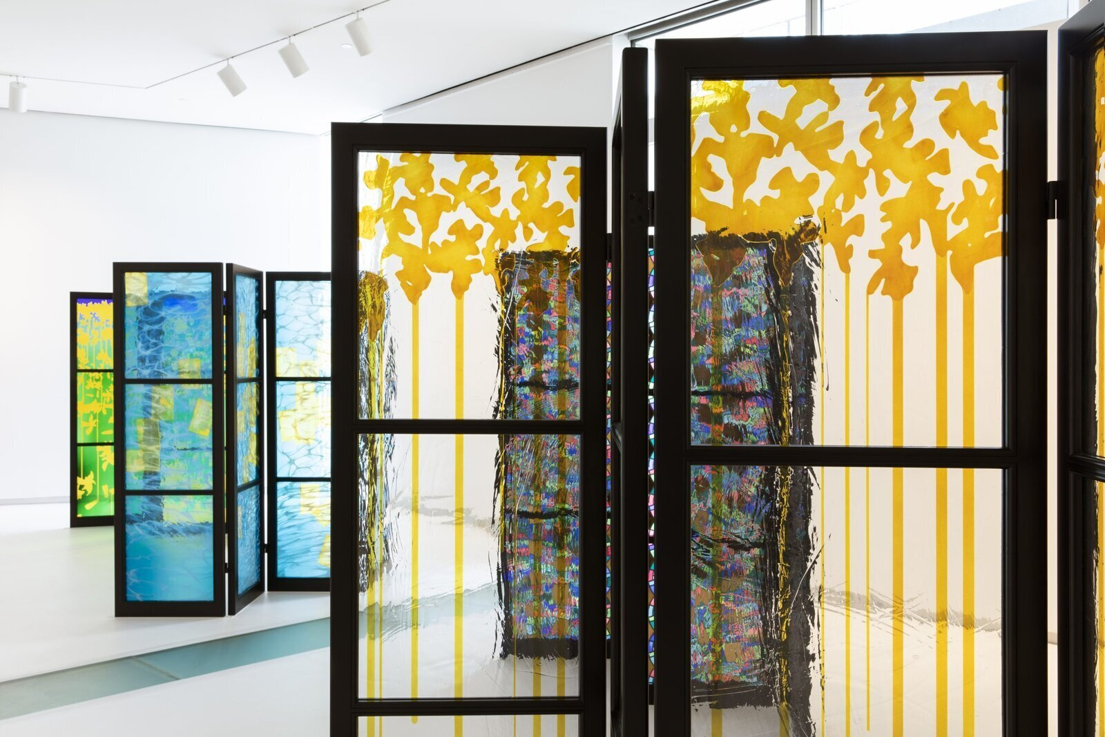 Brian Clarke is one of the world's most esteemed artists working with stained glass today. In the comprehensive exhibition Brian Clarke: The Art of Light at the Museum of Arts and Design in New York (through February 21, 2021), which also includes compositions in lead and related drawings, more than 20 of the Brit's free-standing glass screens, their saturated colors playing with light, take center stage.  Photo 6 of 17 in 16 Essential Design Events to Catch This Fall