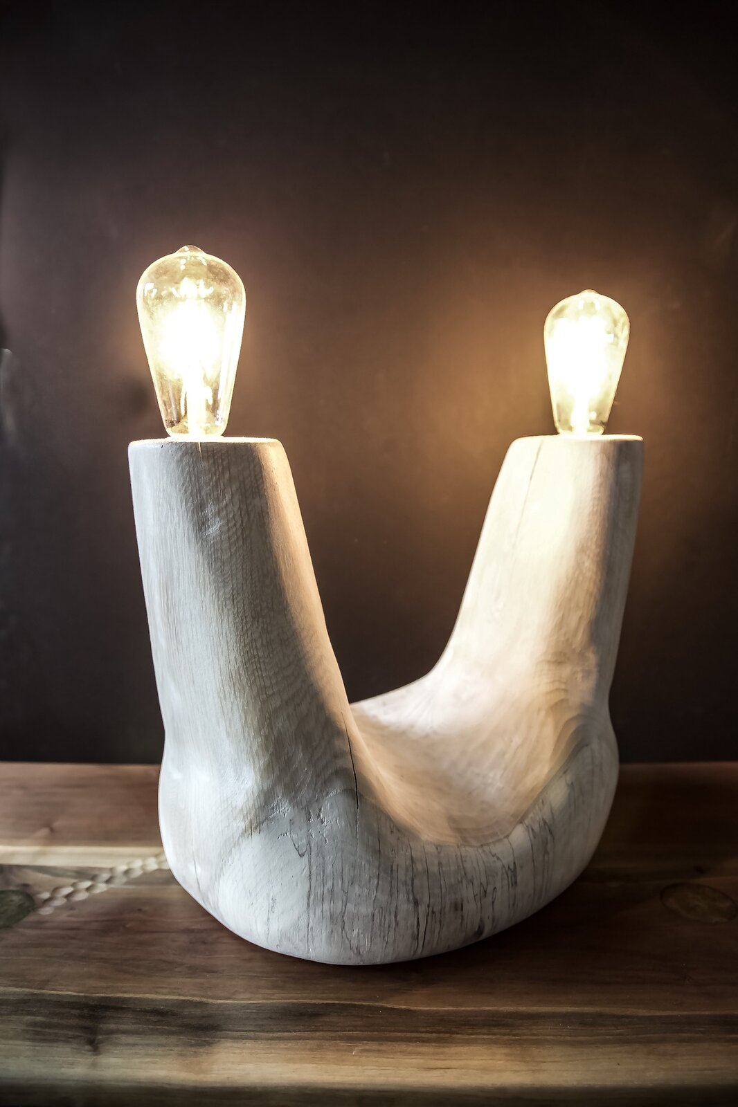 A table lamp carved by Love  Photo 6 of 12 in Designer to Know: Ian Love
