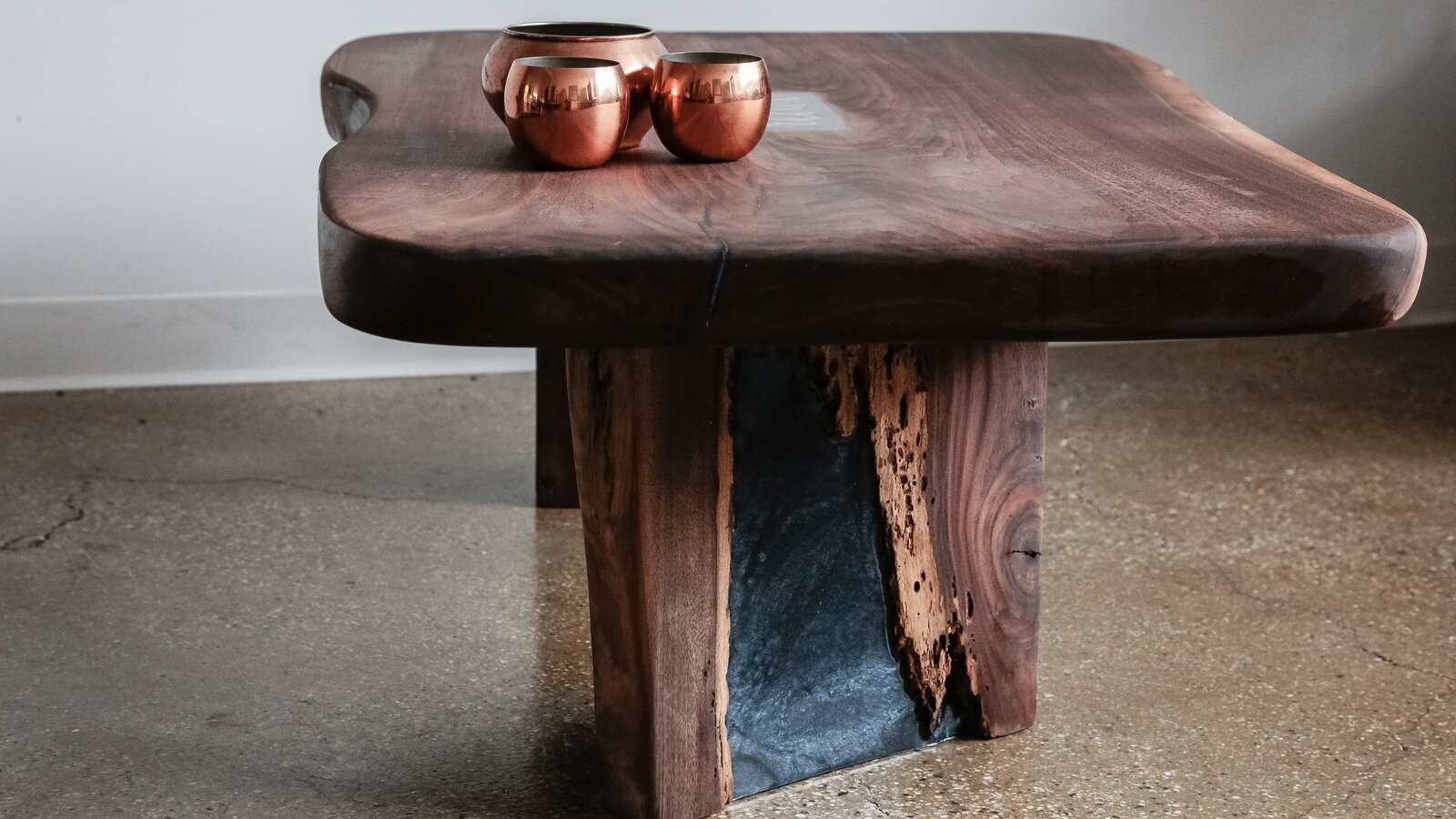 A Black Walnut coffee table with resin inlay by Love  Photo 2 of 12 in Designer to Know: Ian Love