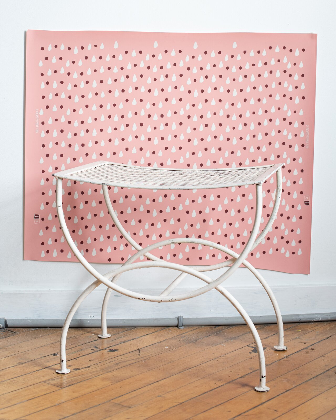 The Dottie wallpaper print was created during Hall's and Hardison's residency at the Winterthur Museum in Delaware.  Photo 6 of 11 in Designer to Know: Nottene