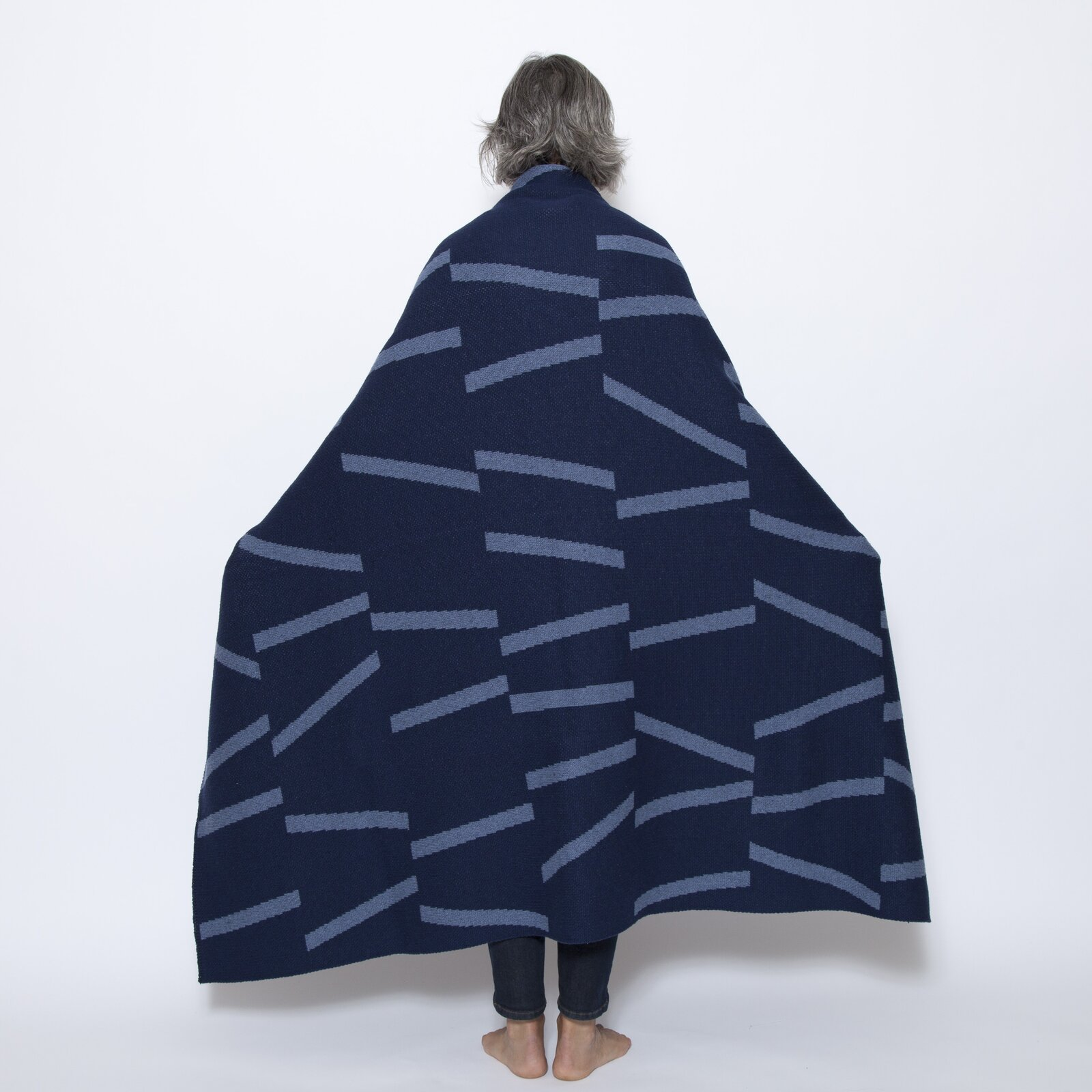 The Eco Broken Lines Throw is by Elodie Blanchard, another Saturday Green designer.  Photo 9 of 11 in Designer to Know: Saturday Green