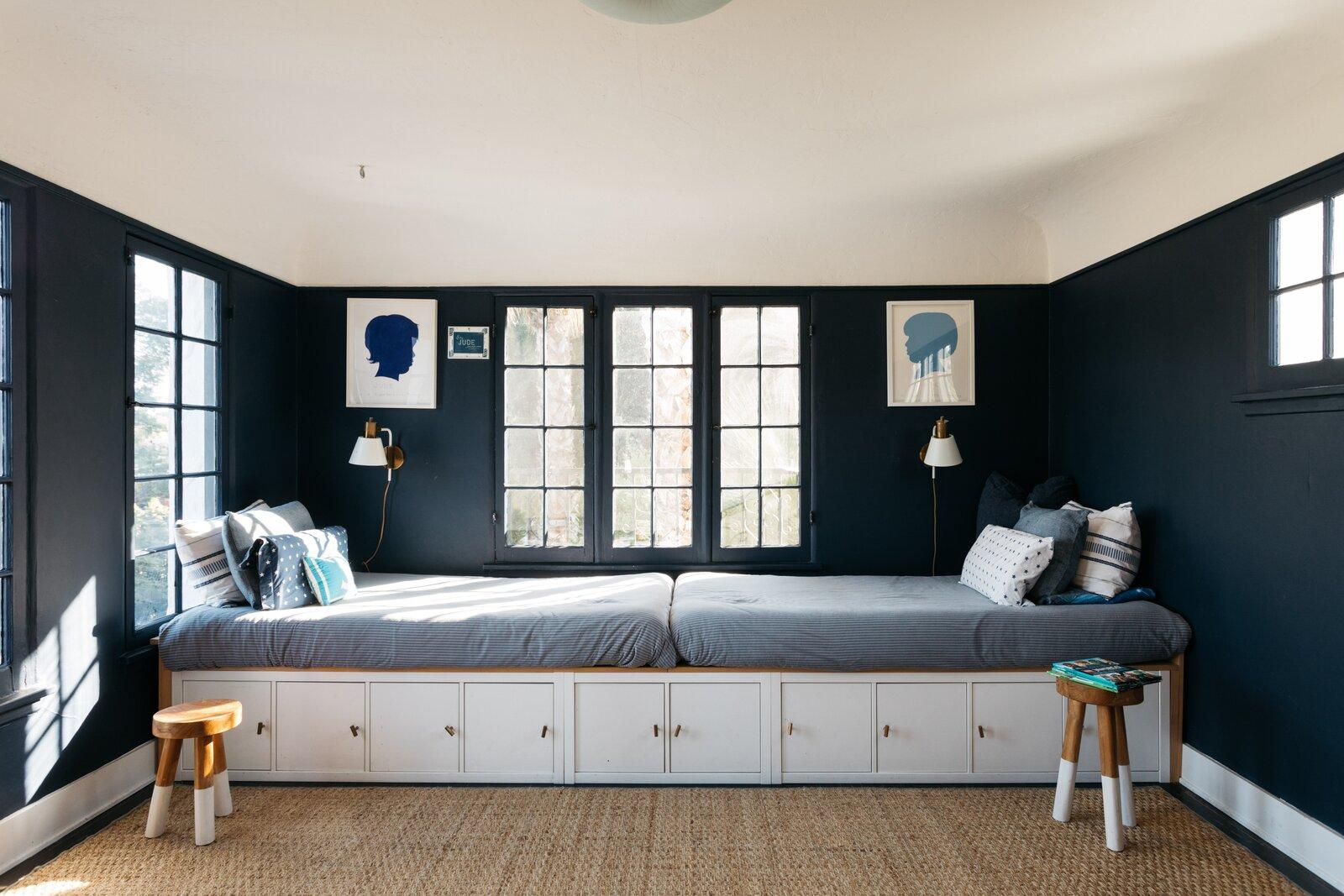 1920s Spanish Revival home bedroom