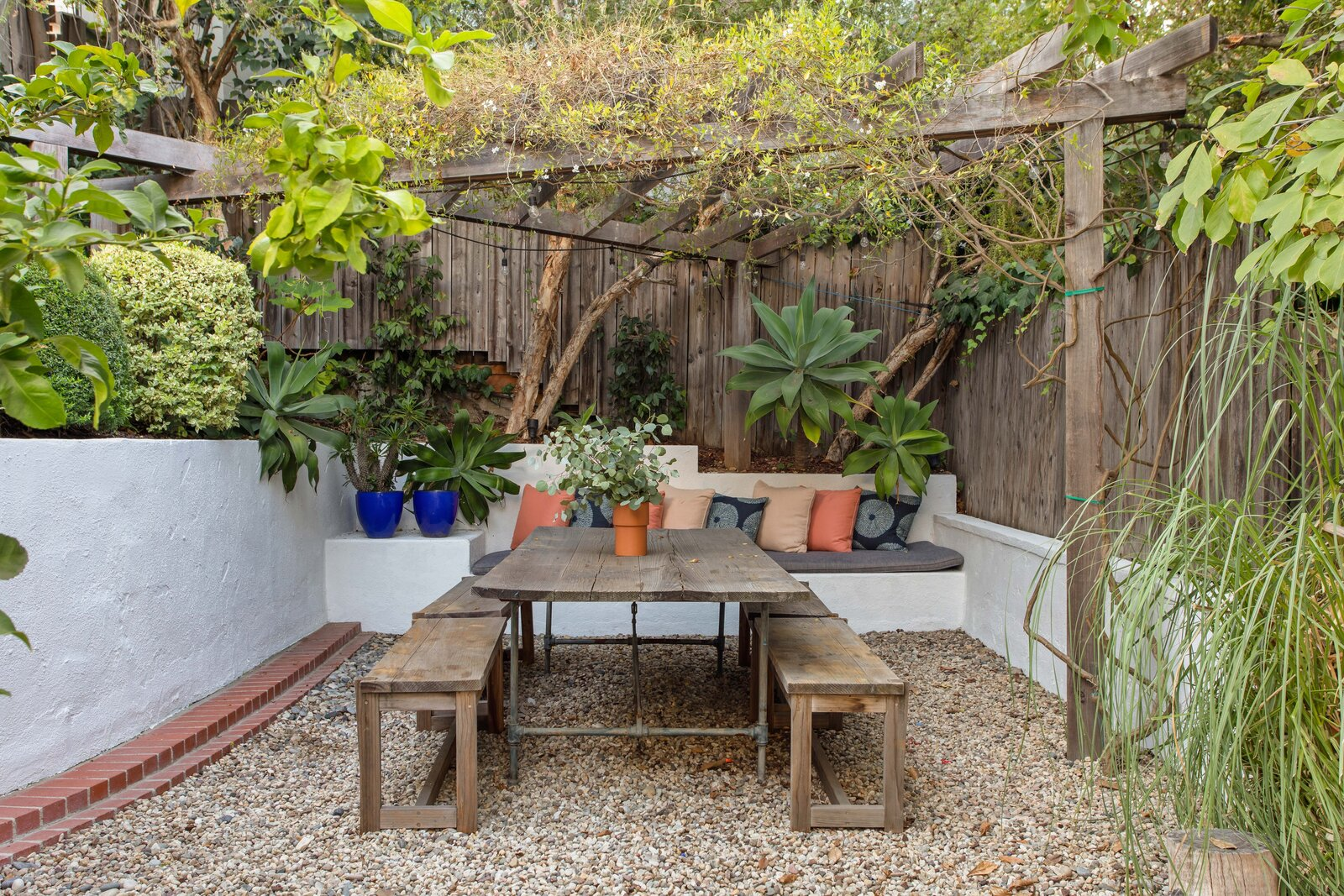 1920s Spanish Revival home outdoor dining area