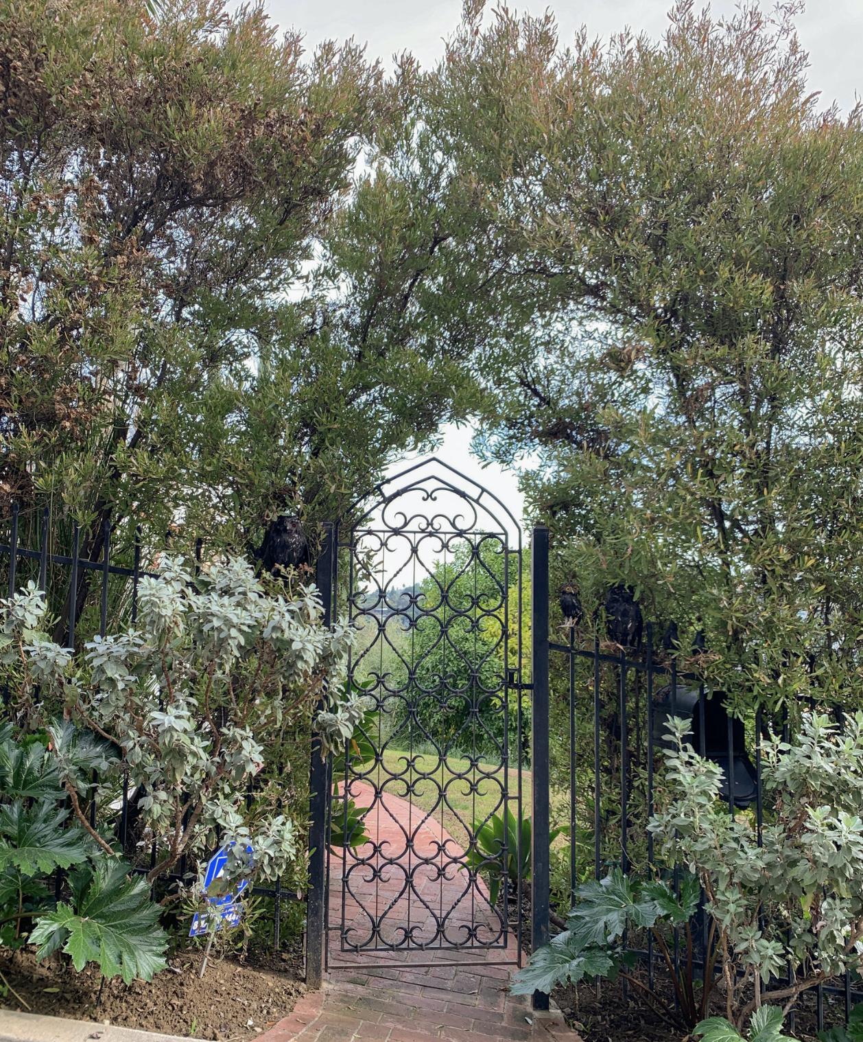 1920s Spanish Revival home gate