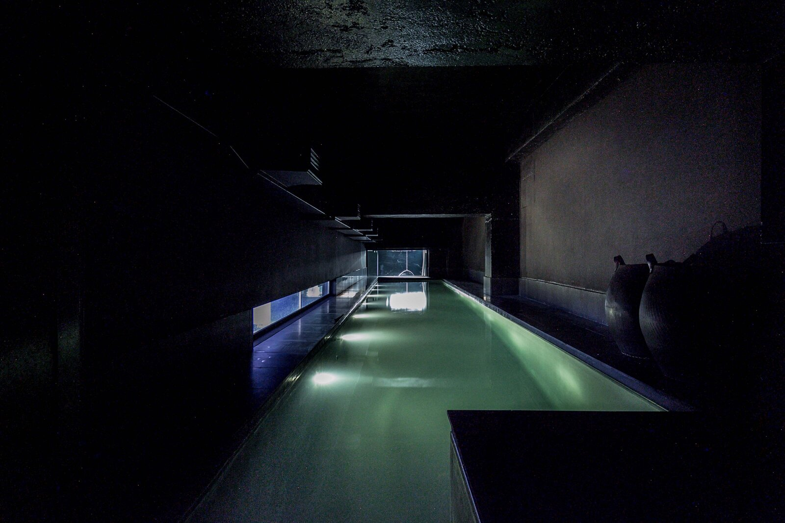 Swimming pool in the Lost House by David Adjaye