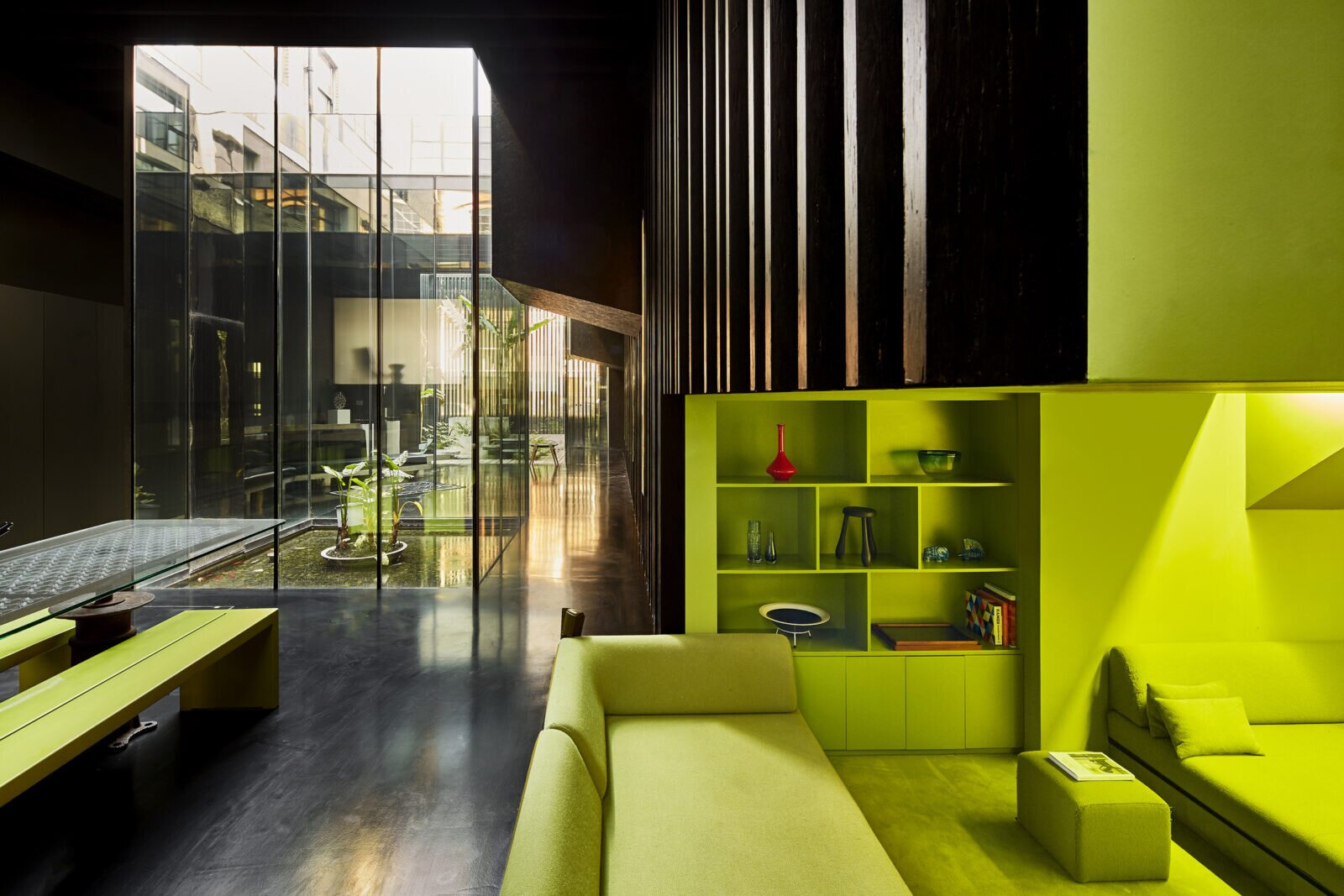 Living area in the Lost House by David Adjaye