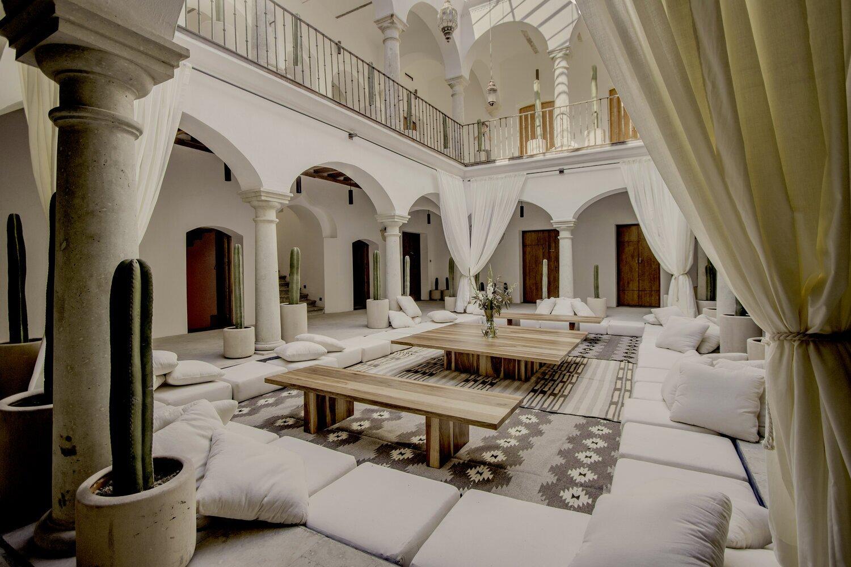Hotel Sin Nombre courtyard