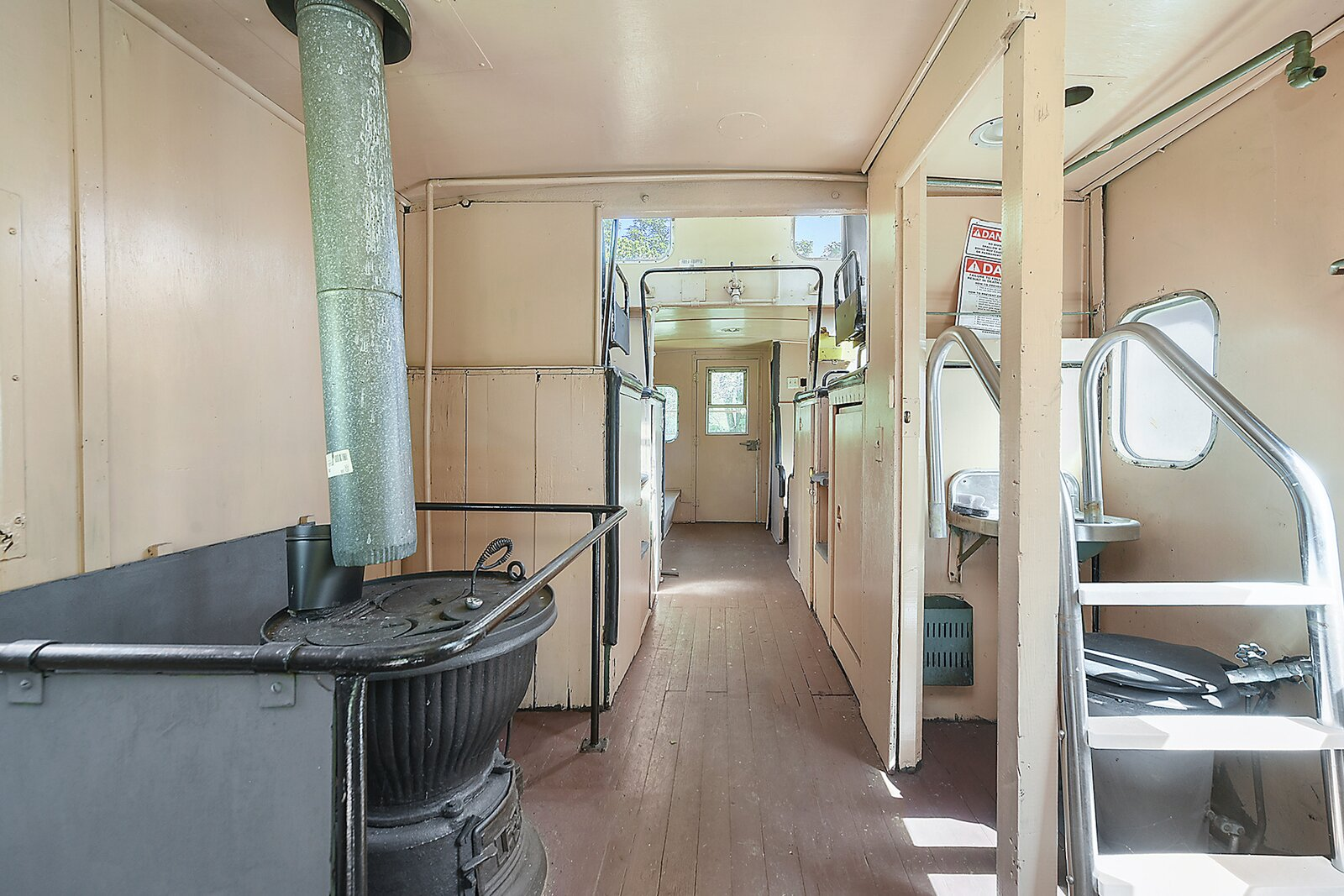 """Inside, the caboose contains many original features and finishes.  Photo 22 of 23 in Hey, Horror Movie Buffs—You Can Own the """"Silence of the Lambs"""" House for $299K"""