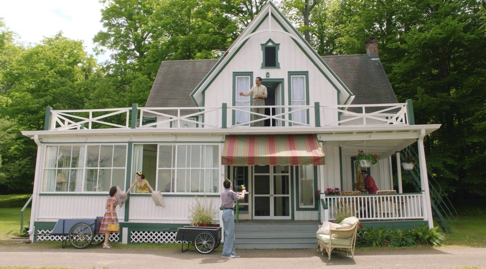 """One of the resort's cottages was depicted as the family's home base during their stay.  Photo 5 of 16 in The Lakeside Resort Featured in """"The Marvelous Mrs. Maisel"""" Lists for $6M in Upstate New York"""