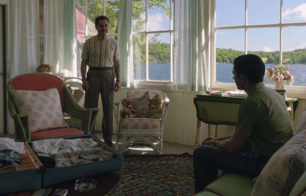 "The cottage's sun porch was shown in one scene, where Abe has a conversation with Jose <span style=""font-family: Theinhardt, -apple-system, BlinkMacSystemFont, &quot;Segoe UI&quot;, Roboto, Oxygen-Sans, Ubuntu, Cantarell, &quot;Helvetica Neue&quot;, sans-serif;"">Maisel, Midge's estranged husband, who leaves her for his secretary in season one but shows up at the resort to see her.</span>  Photo 6 of 16 in The Lakeside Resort Featured in ""The Marvelous Mrs. Maisel"" Lists for $6M in Upstate New York"