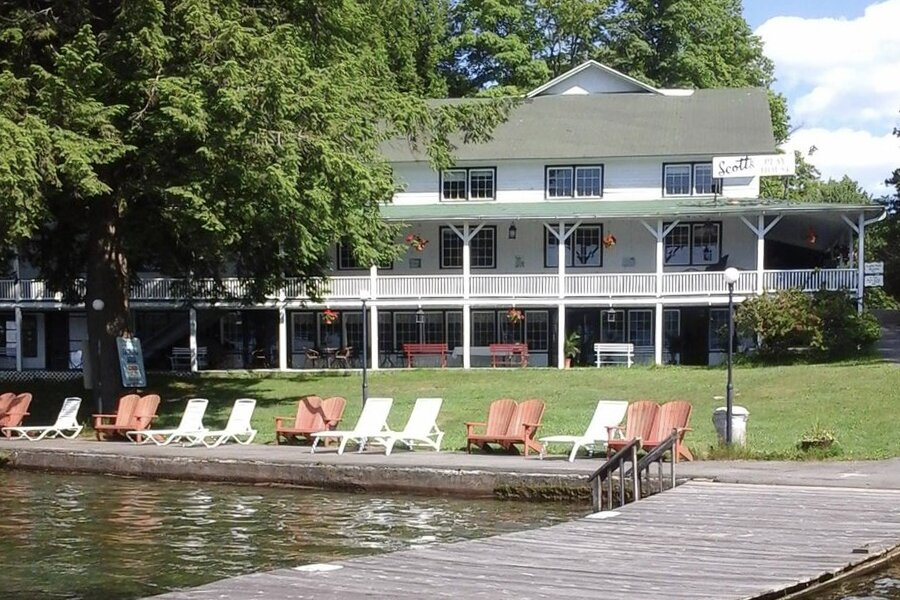 """Absent a few dozen spectators, the dock and lawn look much the same as they were depicted in the show. The large """"playhouse  Photo 11 of 16 in The Lakeside Resort Featured in """"The Marvelous Mrs. Maisel"""" Lists for $6M in Upstate New York"""