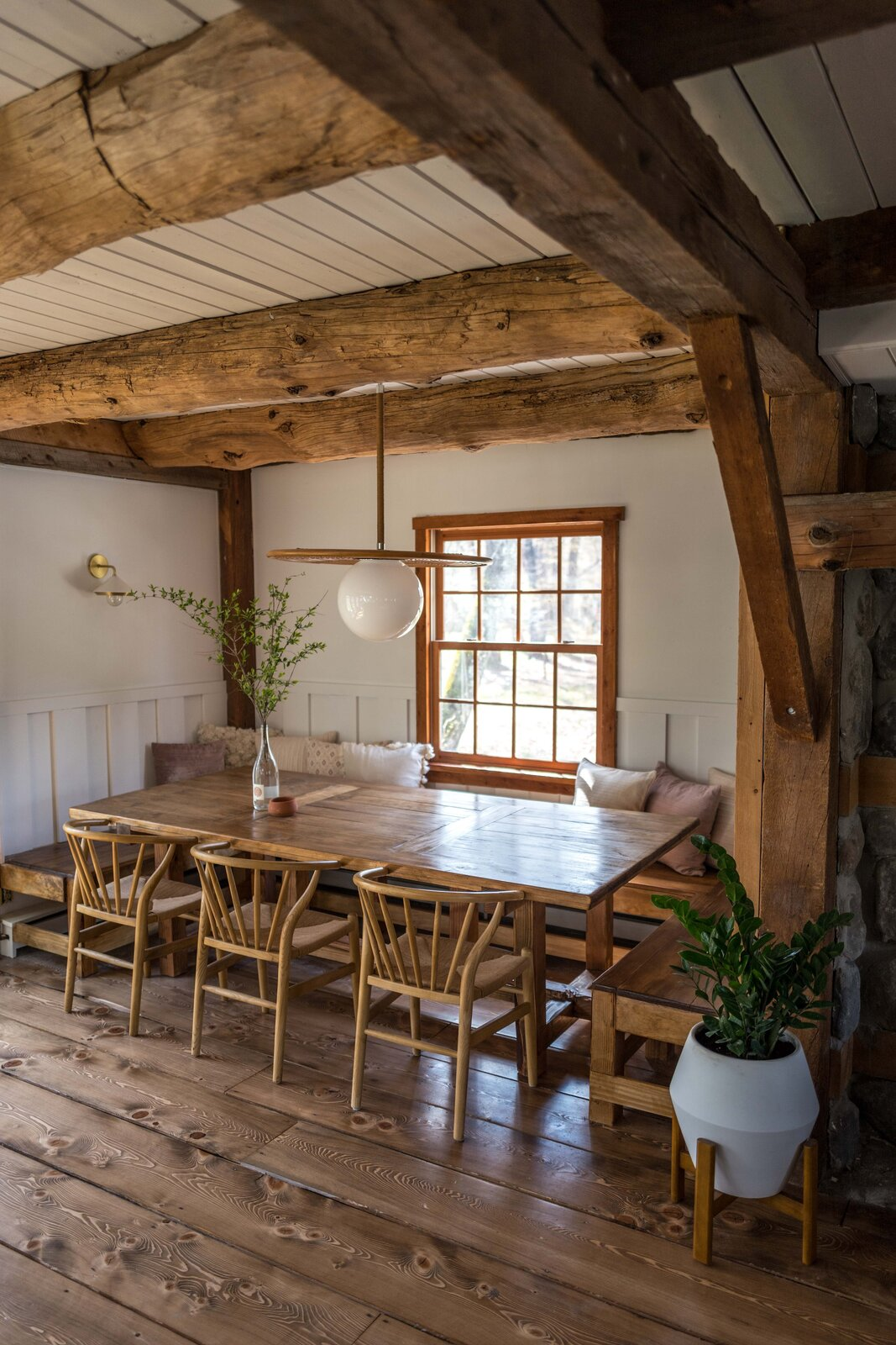The Hunter Barnhouse by Danielle and Ely Franko dining table and bench